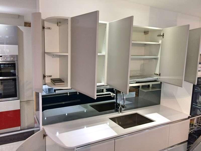 Scavolini tess modern grey blue kitchen with white for Scavolini prices