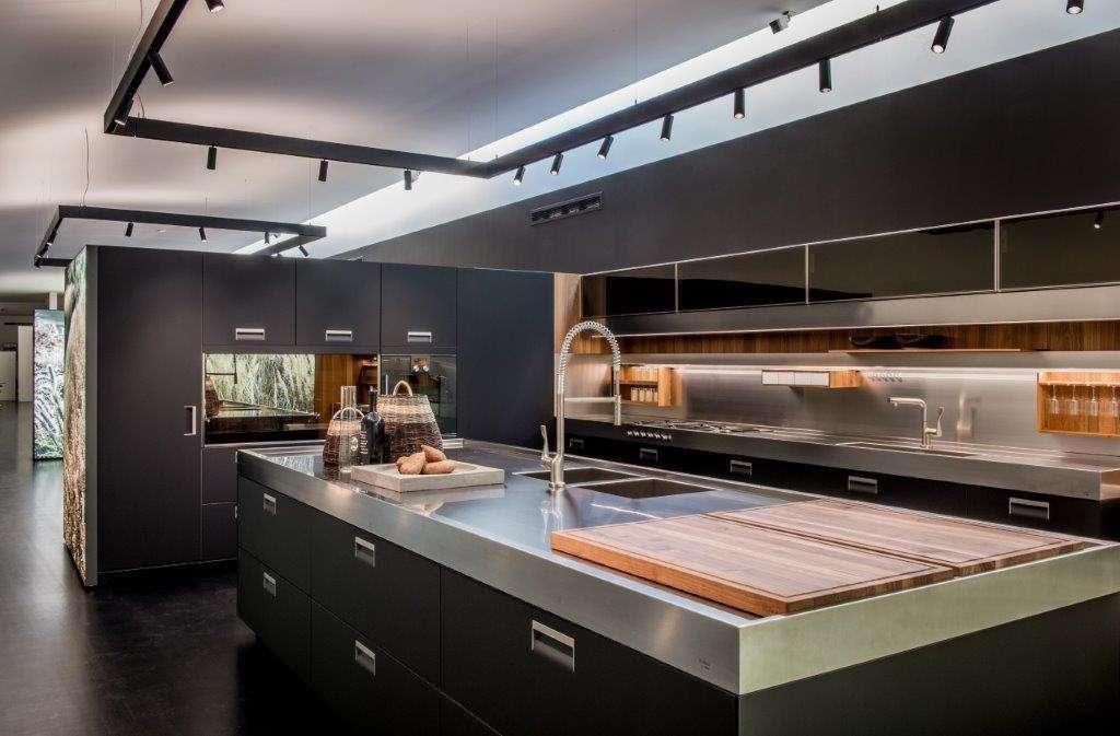 Arclinea Italian Kitchen Black Matt Stainless Steel