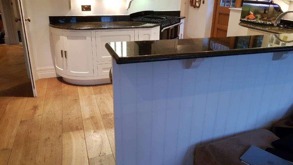 Bespoke Handmade Kitchen Light Grey Wood Granite Worktops