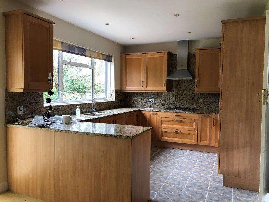Nolte Kuchen Kitchen Wood Brown Doors Granite Worktops Neff