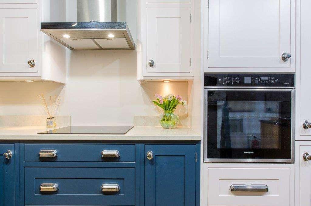 Ex Display Kitchen Landau Buckingham Blue White Silestone