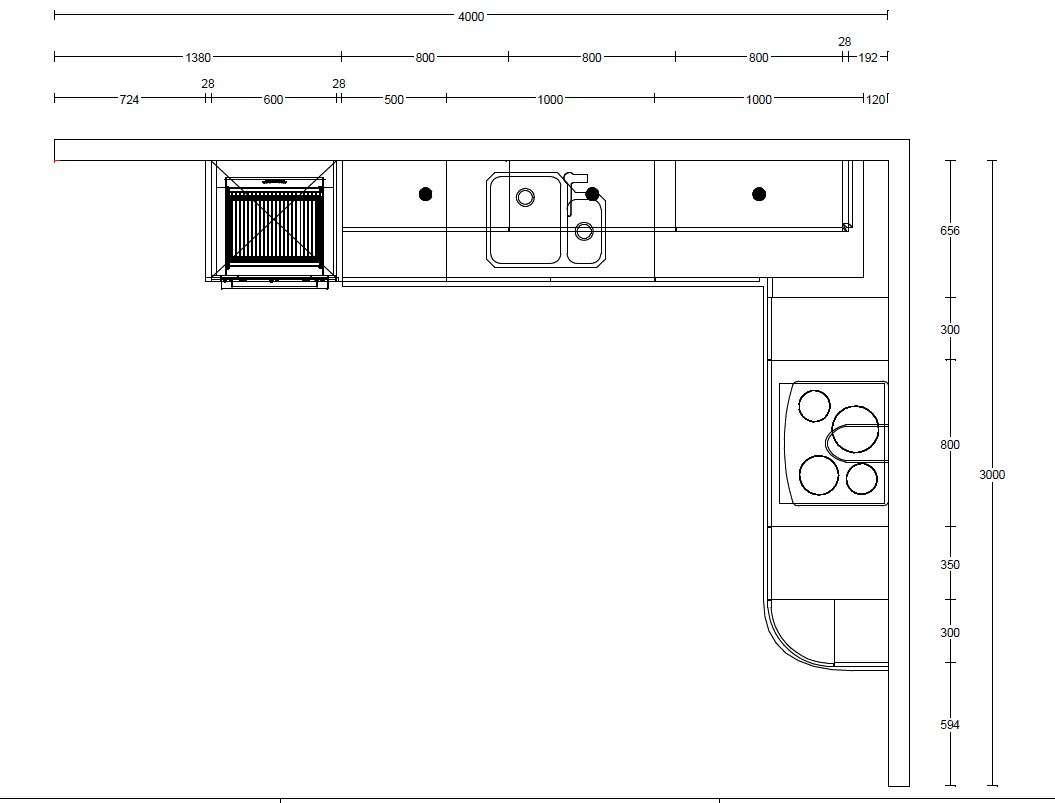 PWS Ex Display Kitchen L-Shapped Izari (Wood Veneer with Glass Wall Units ), Quartz Worktops & Appliances
