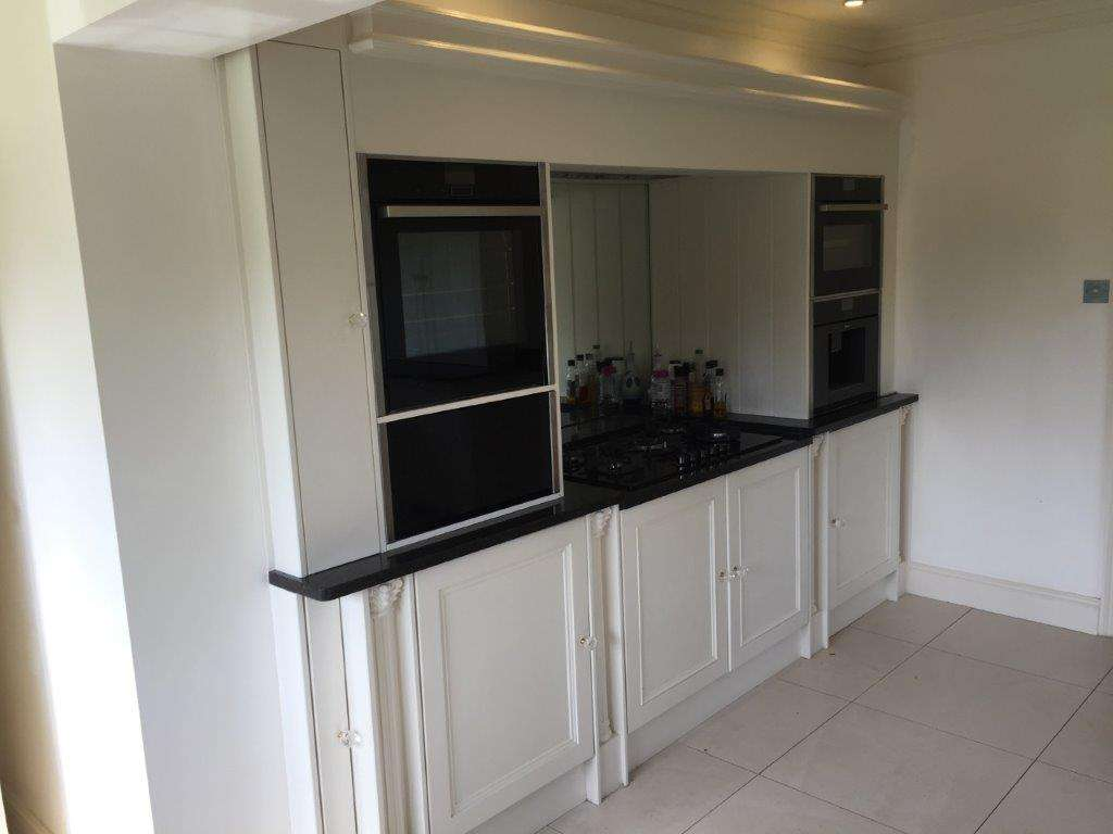 Bespoke, Traditional, Shaker Style, White Kitchen, Granite