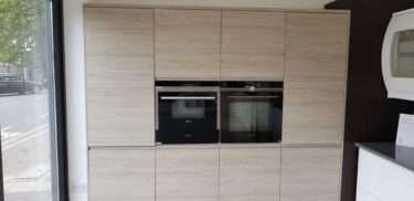 Remo Elm Kitchen Tall Units with Siemens Appliances