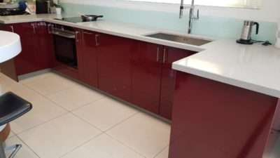 Hacker 4030 High Gloss Red Wine Lacquer Kitchen