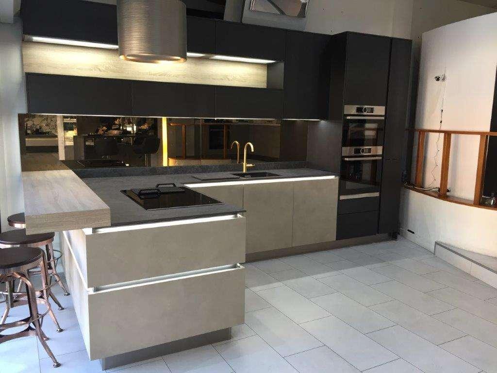 What Is A Kitchen: NOLTE Natural Kitchen, Concrete & Blue Steel Doors