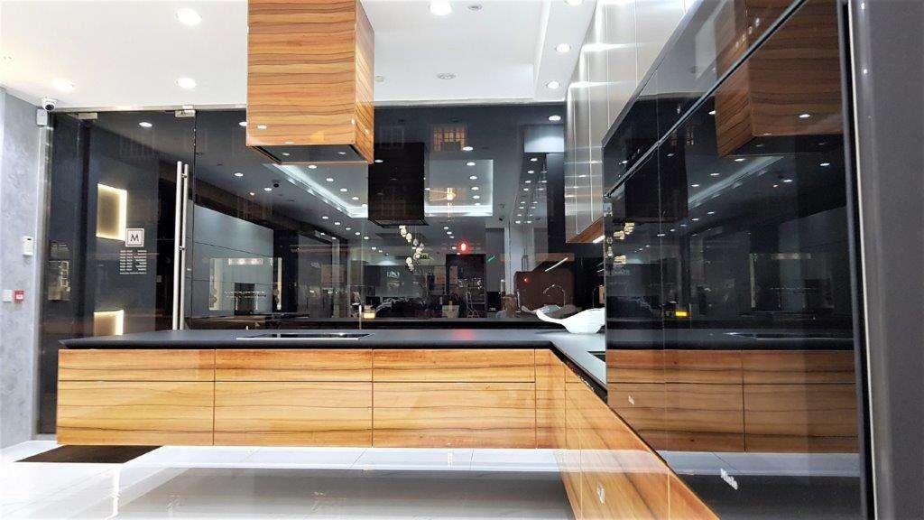Warendorf Ex Display Kitchen, Aluminium Titan, Bookmatched