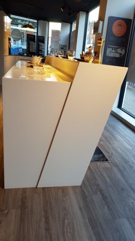 Mobalpa Ex Display Kitchen Arche Black White Corian Siemens
