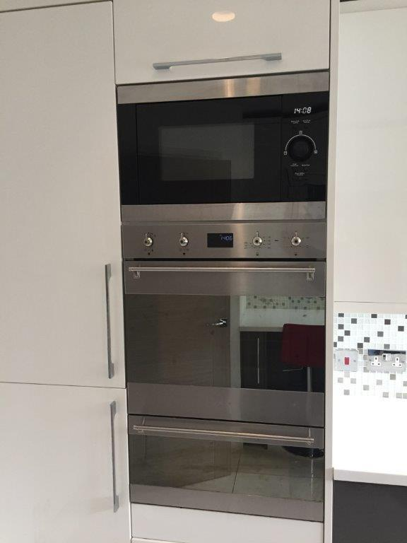 Modern Grey White Gloss Kitchen Composite Stone
