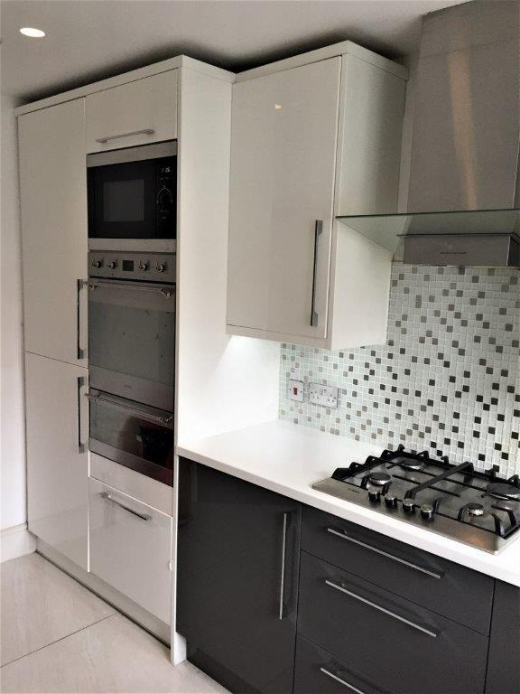White Gloss Curved Kitchen Units Home Decorating Ideas