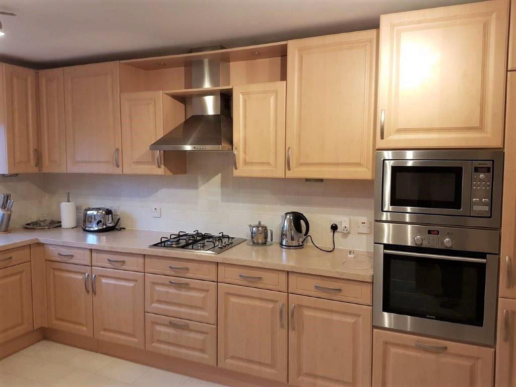 Noblessa Kitchen Light Oak Colour Marble Effect Laminate