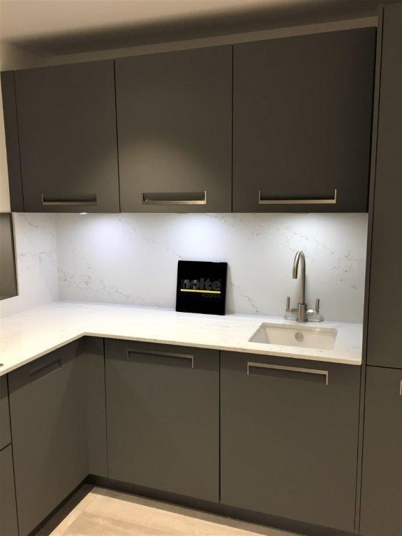 Nolte Kitchen Integra Grey Matt Modern Quartz 20mm Worktops