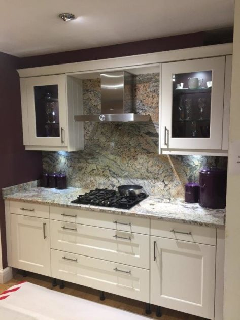 Stori Ex Display Kitchen, Florence Porcelain Shaker, Granite Worktop Appliances