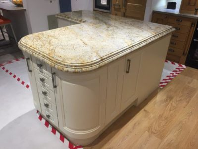 Stori Jefferson Island 60mm Granite Colonial Cream Double Profile Worktop