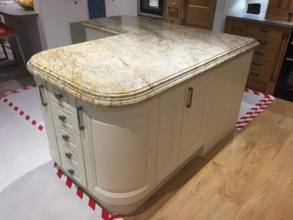Stori Jefferson Island 60mm Granite Colonial Cream Double Profile Worktop