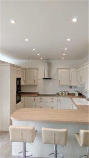 Contemporary Shaker Style Kitchen Mussel & Natural Oak Colour, Appliances