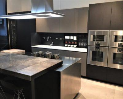 Poliform Kitchen, Varenna & Barraza Phoenix Black Elm Roccia Gaggenau Appliances