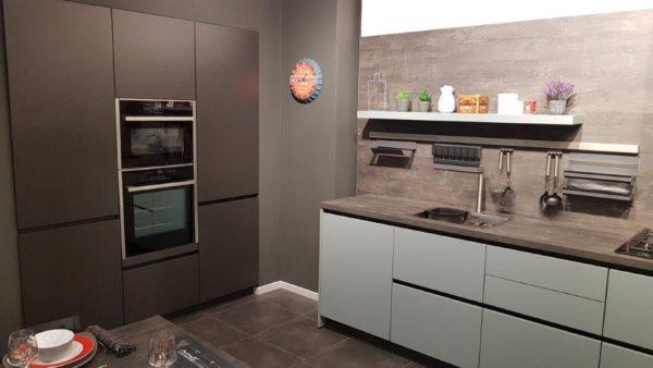 Schmidt Handleless Arcos Kitchen, Eolis, Green Tea, Worktop