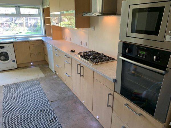 Schuller Light Ash & Glass Kitchen Appliances & Worktops