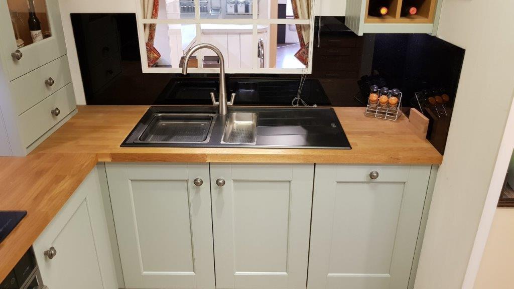 Wood Doors Shaker Kitchen Mineral Grey Oak Worktops