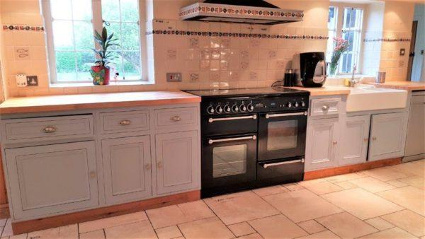 Inframe Shaker Blue Wood Kitchen
