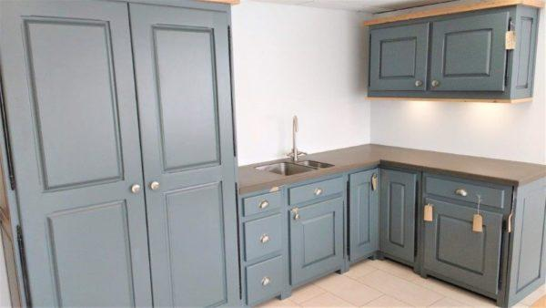Harrogate Dark Grey Oak Kitchen with Island