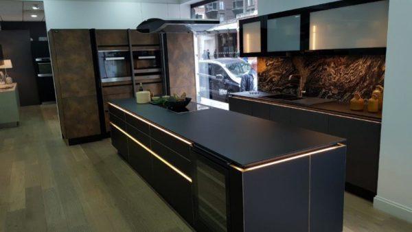 Matrix Art Black With Brass Trim & Corten Steel