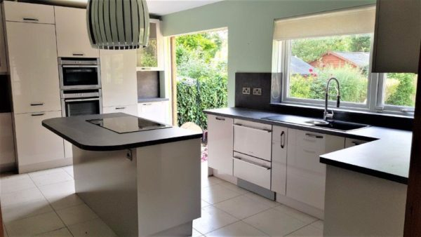 Soft Grey High Gloss Kitchen with Worktops & Excellent Appliances