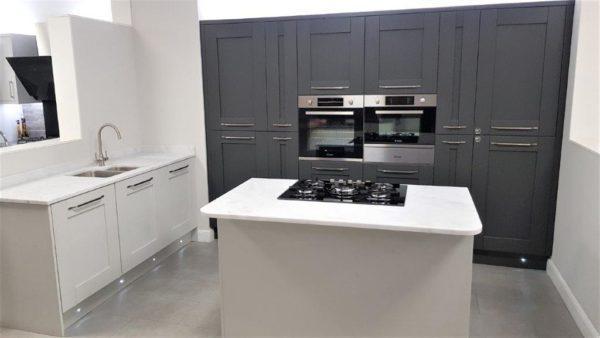 Kompact Wilton Light Grey & Dark Grey Shaker Kitchen