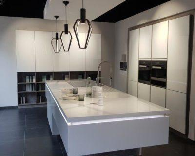 Schmidt Glamor Glass Tall & White Gloss Kitchen