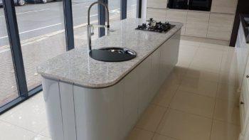 Silver-Grey-Gloss-Handleless-Kitchen-Island