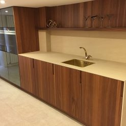 Doca Wood Veneer Teak & Mirrored with Ceramic Worktops Kitchen (20)