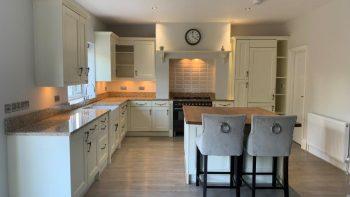 Traditional Shaker Ivory Pilaster Kitchen & Island