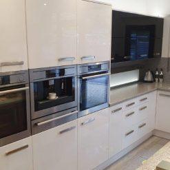 Modern Gloss Grey Slab Kitchen