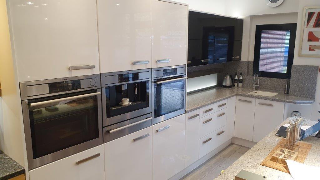 Modern Gloss Grey White Slab Ex Display Kitchen Used Kitchen Hub