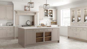 Mereway Shaker Inframe Latte Kitchen & Island Appliances Worktops