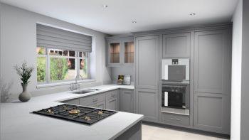 Woodworks Shaker F&B Cornforth White Kitchen Appliances