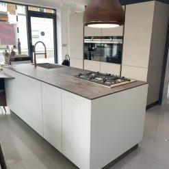 Ex Display Composit Cucina Light Grey Taupe Kitchen with Island