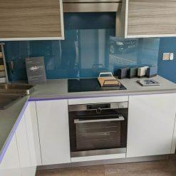 Ex Display Ultra Gloss White & Driftwood Textured Kitchen