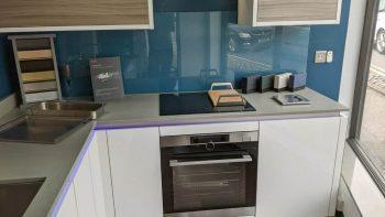Ex Display Ultra Gloss White & Driftwood Textured Kitchen