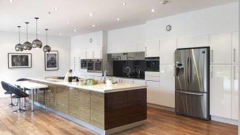 Mackintosh White & Wood Effect Kitchen & Island