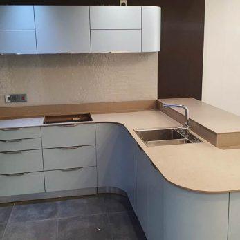 Schmidt Loft Micron Lacquered Nordic Blue Kitchen