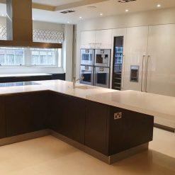 Unused Wood Veneer Kitchen Corian & Gaggenau Appliances