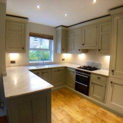 1909 Modern Shaker Light & Dark U Shaped Kitchen