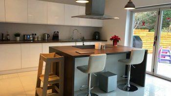 Benchmarx Soho White Gloss Handless Kitchen & Island