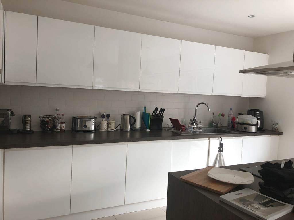 Benchmarx Soho White Gloss Handless Kitchen Island 3831180 Used Kitchen Hub