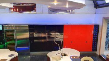 Ex Display Italian high gloss Nero Rossi Kitchen