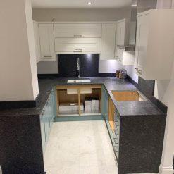 Ex Display Mackintosh Modern Trend Painted Steel Blue Kitchen
