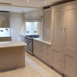 Handpainted Light Grey Shaker Wood Kitchen