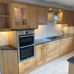 Large Traditional Wood Door Kitchen & Island